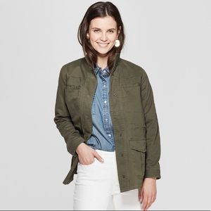 NWT Universal Thread Olive Green Utility Jacket